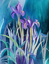Spring Garden 4 by Sandra Humphries (Watercolor Painting)