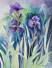Spring Garden 6 by Sandra Humphries (Watercolor Painting)