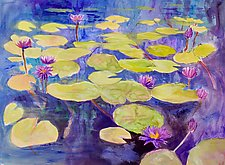Morning Pond 3 by Sandra Humphries (Acrylic Painting)