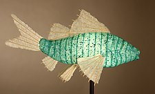 Azul Koi Lamp by Lara Fisher (Mixed-Media Lamp)