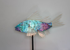 Tidal Koi Lamp by Lara Fisher (Mixed-Media Lamp)