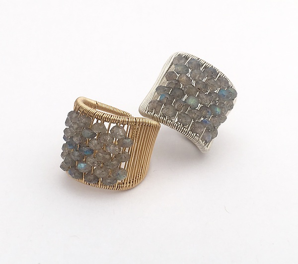 Labradorite Encrusted Ring