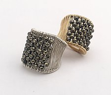 Pyrite Plaited Ring by Tana Acton (Silver & Stone Ring)