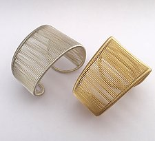 Asymmetrical Plain Cuff by Tana Acton (Gold & Silver Bracelet)