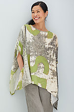 Nikola Poncho & Scarf by Andrea Geer (Woven Poncho)