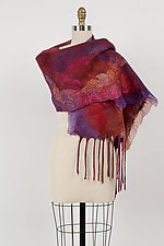Giverny Felted Scarf by Anne Vincent  (Silk & Wool Scarf)