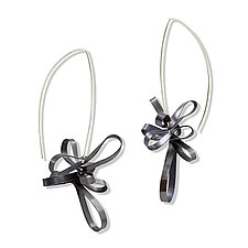 Ribbon Earrings by Melissa Finelli (Silver Earrings)