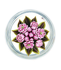 Japanese Plum Blossom by Clinton Smith (Art Glass Paperweight)