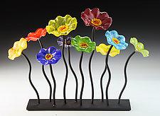 Rainbow Garden Table Centerpiece by Scott Johnson and Shawn Johnson (Art Glass Sculpture)
