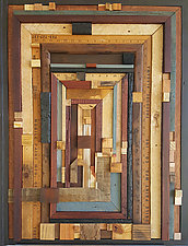 Detoured Maze by Heather Patterson (Wood Wall Sculpture)