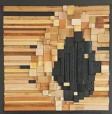 Interior Castle by Heather Patterson (Wood Wall Sculpture)