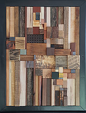 Building Around the Well by Heather Patterson (Wood Wall Sculpture)