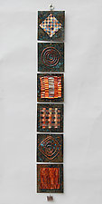 Quilt Strip IV by Frances Solar (Metal Wall Sculpture)