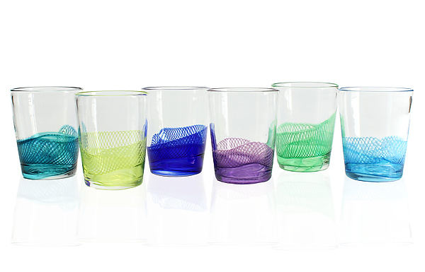 Color Splash Double Old Fashioned Glasses