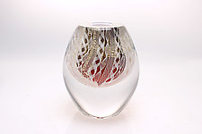 Cherry Red Apex by Frost Glass (Art Glass Paperweight)