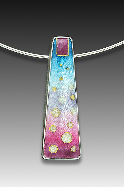 Blue and Pink Circles Pendant