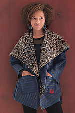 Ajrakh Circular Jacket by Mieko Mintz  (Woven Jacket)