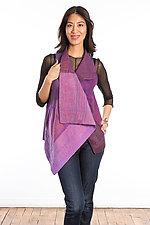 Drape Collar Vest #4 by Mieko Mintz  (One Size (2-12), Cotton Vest)