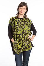 Crew Neck Pocket Tunic #6 by Mieko Mintz  (One Size (2-14), Cotton/Rayon Tunic)