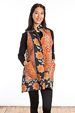 Wing Collar Vest #1 by Mieko Mintz  (One Size (2-12), Cotton Vest)