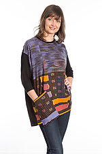 Crew Neck Pocket Tunic #2 by Mieko Mintz  (One Size (2-14), Cotton/Rayon Tunic)