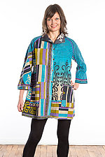 Back Tuck Tunic #2 by Mieko Mintz  (One Size (2-12), Cotton Tunic)