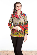 Short Jacket #6 by Mieko Mintz  (Size Medium (6-8), Cotton Jacket)