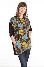 Crew Neck Pocket Tunic #1 by Mieko Mintz  (One Size (2-14), Cotton/Rayon Tunic)