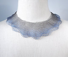 Delicate Wire Knit Collar by Sarah Cavender (Jewelry Necklaces)