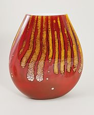 Flat Fire Vase by Mayauel Ward (Glass Vase)