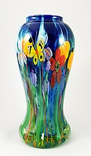Blue Bouquet Vase by Mayauel Ward (Glass Vase)