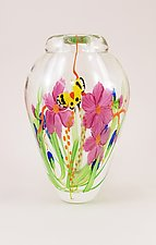 Clear Bouquet Vase by Mayauel Ward (Art Glass Vase)