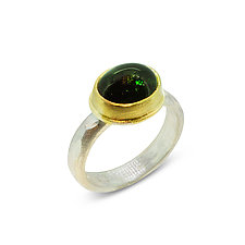 Deep River Tourmaline Ring by Nancy Troske (Gold, Silver & Stone Ring)