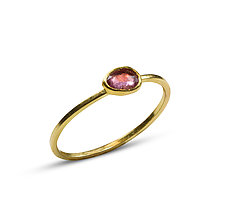 Tiny Pink Sapphire Ring by Nancy Troske (Gold & Stone Ring)