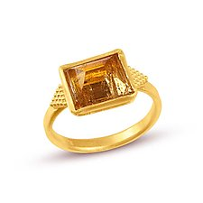 Pyramid Ring by Nancy Troske (Gold & Stone Ring)