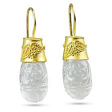 Crystal Garden Earrings by Nancy Troske (Gold & Stone Earrings)