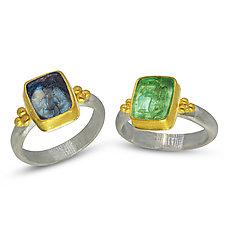Wine Pairings by Nancy Troske (Gold, Silver & Glass Ring)