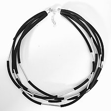 Tubular Harmony Necklace by Dagmara Costello (Silver & Rubber Necklace)