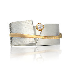 Between You and Me Ring by Dagmara Costello (Gold, Silver & Stone Wedding Band)