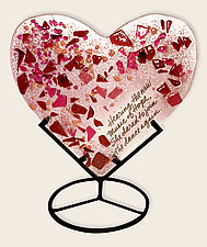 Hearts of Hope 2 by Anne Nye (Art Glass Sculpture)