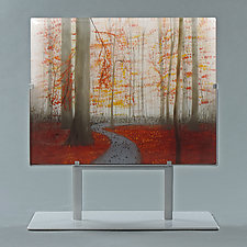 Autumn Trail by Paul Messink (Art Glass Sculpture)