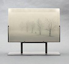 Winter Air by Paul Messink (Art Glass Sculpture)