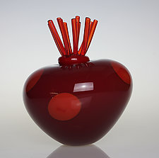 Awesome Blossom in Red by Tom Bloyd (Glass Sculpture)