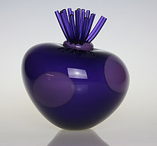 Awesome Blossom in Purple by Tom Bloyd (Art Glass Sculpture)