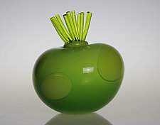 Awesome Blossom in Lime by Tom Bloyd (Art Glass Sculpture)