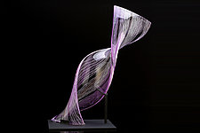Lavender Twist by Benjamin Silver (Art Glass Sculpture)
