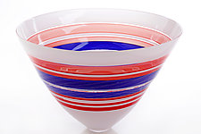 Red, White, and Blue by Benjamin Silver (Art Glass Bowl)