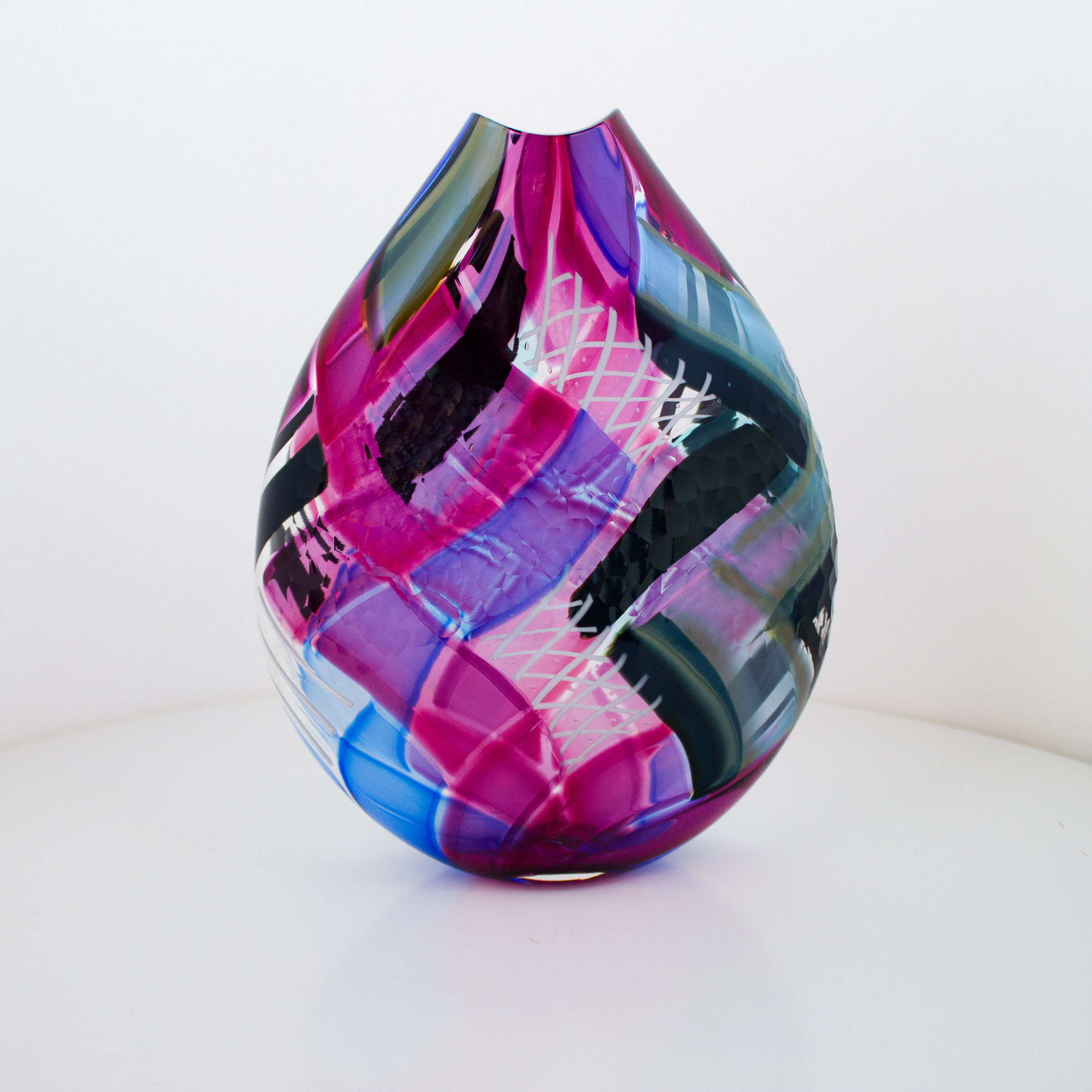 Herringbone with Reticello by Jeffrey P'an (Art Glass ...