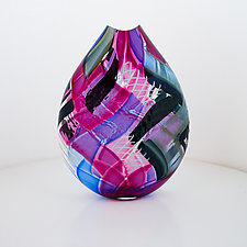 Herringbone with Reticello by Jeffrey P'an (Art Glass Vessel)