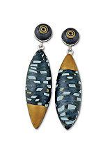 Blue Pod Earrings by Loretta Lam (Polymer Clay Earrings)